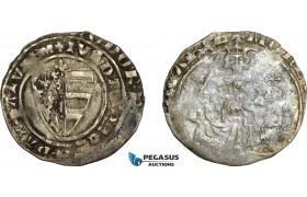 AE362, Hungary, Karl Robert, Groschen ND (1330-32) Silver (2.02g) Huszár: 443, VF-XF