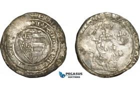 AE363, Hungary, Karl Robert, Groschen ND (1330-32) Silver (3.24g) Huszár: 443, VF-XF