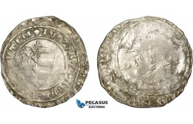 AE364, Hungary, Karl Robert, Groschen ND (1330-32) Silver (2.43g) Huszár: 443, Weak struck, aXF