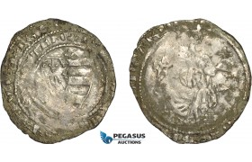 AE365, Hungary, Karl Robert, Groschen ND (1330-32) Silver (1.82g) Huszár: 443, Deposits, VF-XF