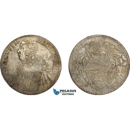 AE377, Ragusa, Tallero Rettorale 1765 GB, Silver (28.36g) Lustrous, Toned AU, Adjustments
