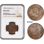 AE478, Canada, Edward VII, 1 Cent 1906, NGC MS63BN