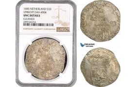AE537, Netherlands, Utrecht, Daalder 1683, Silver, Dav-4904, NGC UNC