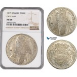 AE554, Ragusa, Tallero Rettorale 1765 GB, Silver, NGC AU58