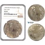 AE558, Ragusa, Tallero Rettorale 1766 DM-DM, Silver, NGC AU58, Pop 1/0