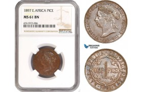 AE632-R, East Africa, Victoria, 1 Pice 1897, NGC MS61BN