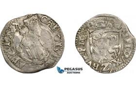 AE702, Austria, Charles, 2 Kreuzer 1578, Graz, Silver (1.57g) VF-XF, Rare!