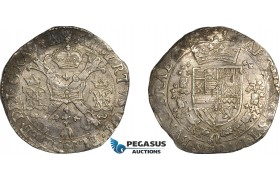 AE705, Spanish Netherlands, Antwerp, Albert & Isabella, Patagon 1616, Silver (27.46g) Del. 254, VF