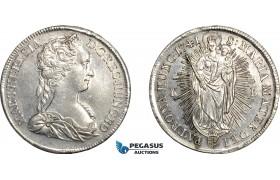 AE737, Hungary, Maria Theresia, Taler 1741-KB, Kremnitz, Silver (28.83g) Cleaned AU