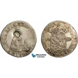 AE745, Netherlands, Zeeland, Hoedjesschelling 1680, Silver (4.85g) Countermarked Bundle of Arrows, F-VF
