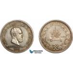 AE762, Russia, Alexander III, Rouble 1883 (Coronation) Silver, Toned AU