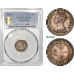 AE788, Hong Kong, Victoria, 10 Cents 1889, Silver, PCGS XF45