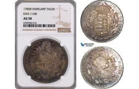 AE852, Hungary, Joseph II, Taler 1782-B, Kremnitz, Silver, NGC AU58