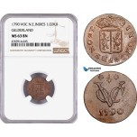 AE871, Netherlands East Indies, VOC, 1/2 Duit 1790,