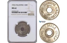 AE883, Palestine, 10 Mils 1933, London, NGC MS62