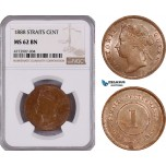 AE904, Straits Settlements, Victoria, 1 Cent 1888, NGC MS62BN