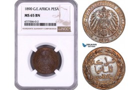 AE956, German East Africa, Pesa 1890, NGC MS65BN