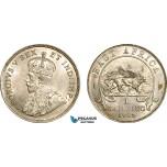 AF005, British East Africa, George V, 1 Shilling 1924, London, Silver, Lustrous UNC