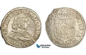 AF009, France, Lorraine, Charles IV, Teston 1632, Silver (9.06g) KM# 45, AU