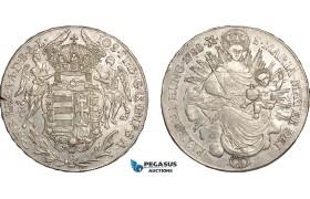 AF035, Hungary, Joseph II, Taler 1782-B, Kremnitz, Silver, XF (Scratch on Obv.)