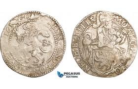 AF039, Netherlands, Friesland, 1/2 Lion Daalder 1613, Silver (13.30g) VF
