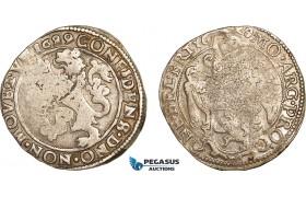 AF040, Netherlands, Friesland, 1/2 Lion Daalder 1629, Silver (13.49g) VF