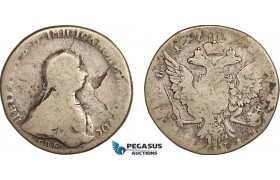 AF049, Russia, Peter III, Rouble 1762 СПБ-НК, St. Petersburg, Silver (22.55g) VG-F