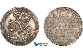 AF065, Germany, Saxony, Taler 1678, Dresden, Silver (23.24g) Ex. Mount, XF