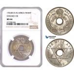AF076, British West Africa, Edward VIII, 1 Penny 1936-KN, Kings Norton, NGC MS66
