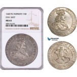 AF194, Norway, Frederik III, Speciedaler 1660 FG, Christiania, Silver, NGC MS63, Pop 1/0, Rare!