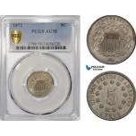 AF212-R, United States, Shield Nickel (5c) 1872, Philadelphia, PCGS AU58