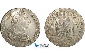 AF239, Peru, Charles III, 8 Reales 1783 LIMAE MI, Lima, Silver, Toned VF+