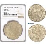 AF336, Netherlands, Kampen, Mathias I, 28 Stuiver ND (1611-19) Silver, NGC MS65, Pop 1/0