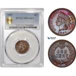 AF362, United States, Indian 1 Cent 1887, Philadelphia, PCGS MS63BN