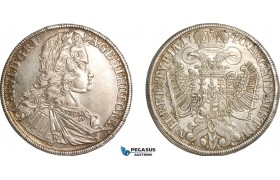 AF489, Austria, Charles VI, Taler 1740, Graz, Silver (28.77g) Lightly cleaned XF-AU