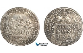 AF500, Germany, Brandenburg-Ansbach. Friedrich, Albrecht, Christian. Under Regency, Taler 1627, Silver (28.68g) Lightly cleaned, aXF