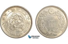 AF513, Japan, Meiji, Yen Yr. 36 (1903) Silver, Lightly cleaned UNC