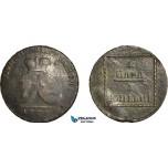 AF539, Russia, Moldavia & Wallachia, 2 Para / 3 Kopeks 1773, Sadogura, VF, some deposits