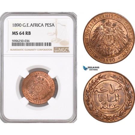 AF680, German East Africa, Pesa 1890, NGC MS64RB