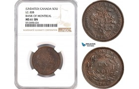 AF857, Canada, Undated, Sou, LC-30B Bank Of Montreal, NGC MS 61BN