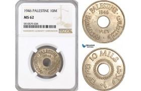 AF976, Palestine, 10 Mils 1946, London, NGC MS62