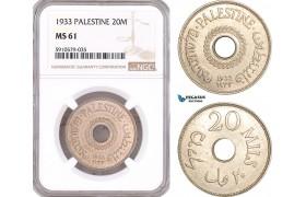 AF977, Palestine, 20 Mils 1933, London, NGC MS61