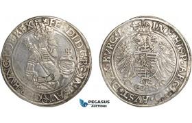 AG116, Austria, Bohemia, Ferdinand I, Guldentaler (60 Kreuzer) 1564, Joachimstal, Silver (23.99g) Tooled VF, Rare!