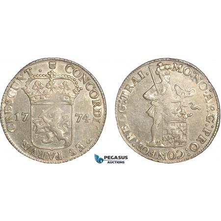 AG132, Netherlands, Utrecht, Silver Ducat 1774, Silver (28.00g) Cleaned AU