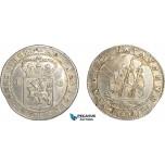 AG134, Netherlands East Indies, Batavian Rep. Gulden 1802, Silver, Scraches on Rev., XF-AU