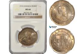 AG242, Jamaica, Edward VII, Penny 1910, London, NGC MS66