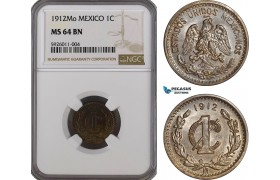 AG244, Mexico, 1 Centavo 1912-Mo, Mexico City, NGC MS64BN