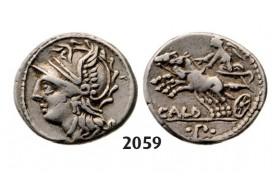 Lot: 2059. Roman Republic,  C. Coilius Caldus, Coelia (90 BC) Denarius, Rome, Silver (3.90g)