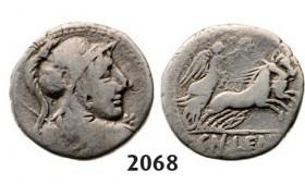 Lot: 2068. Roman Republic, Cn. Cornelius Lentulus (76-75 BC) Denarius, Rome, Silver (3.61g)