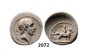 Lot: 2072. Roman Republic, L. Marcius Philippus (56 BC) Denarius, Rome, Silver (3.83g)